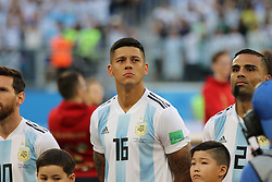 June 26, 2018 - St. Petersburg, Russia - June 26, 2018, Russia, St. Petersburg, FIFA World Cup 2018, First round, Group D, Third round. Football match of Nigeria - Argentina at the stadium of St. Petersburg. Player of the national team Marcos Rojo. (Credit Image: © Russian Look via ZUMA Wire)