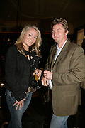 Georgea Blakey and Mathew Racher, PJ's Annual Polo Party . Annual Pre-Polo party that celebrates the start of the 2007 Polo season.  PJ's Bar & Grill, 52 Fulham Road, London, SW3. 14 May 2007. <br />
