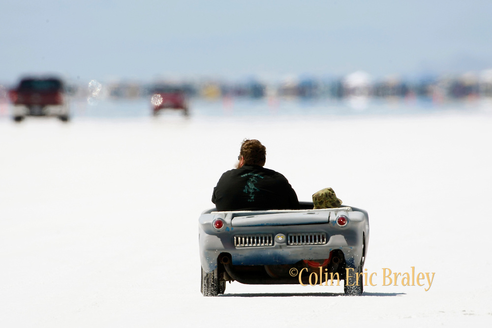 The best cars-people-atmosphere-photos of 2009 Bonneville Speed Week-  August 9, 2009.  Photo by Colin E. Braley