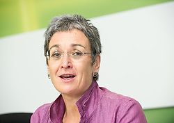 28.05.2014, Gruener Klub, Wien, AUT, Gruene, Nach der EU-Wahl und Aktuelles. im Bild Spitzenkandidatin der Gruenen zur EU-Wahl Ulrike Lunacek // Topcandidate of the Greens for EU-Election Ulrike Lunacek during press conference of the greens about EU-Election at pressroom of the greens in Vienna, Austria on 2014/05/28. EXPA Pictures © 2014, PhotoCredit: EXPA/ Michael Gruber