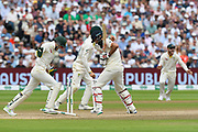 Wicket - Moeen Ali of England is bowled by Nathan Lyon of Australia during the International Test Match 2019 match between England and Australia at Edgbaston, Birmingham, United Kingdom on 3 August 2019.