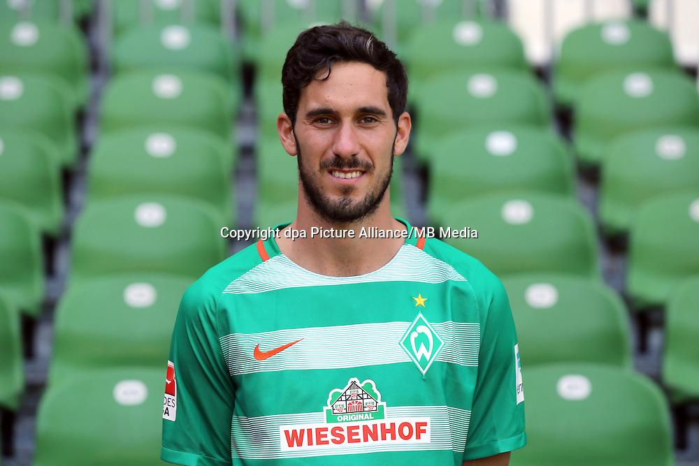 German Bundesliga - Season 2016/17 - Photocall Werder Bremen on 20 July 2016 in Bremen, Germany: Santiago Garcia. Photo: Focke Strangmann/dpa | usage worldwide