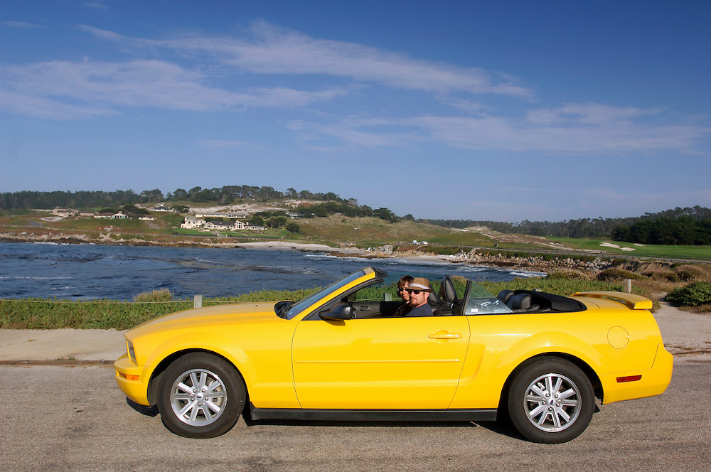 Cabriolet Car at Pebble Beach, 17 Mile drive, Monterey Bay, Monterey, California, United States of America