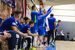 Slovenian bench during friendly handball match between Slovenia and Nederland, on October 25, 2019 in Športna dvorana Hardek, Ormož, Slovenia. Photo by Blaž Weindorfer / Sportida