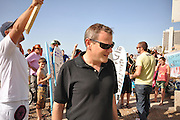 "Israel, Tel Aviv, An anti sea pollution protest led by Knesset Member Nitzan Horowitz - of the New Movement - Meretz party March 6 2009...????? ??? ???? ??? ?""? ???? ???????"