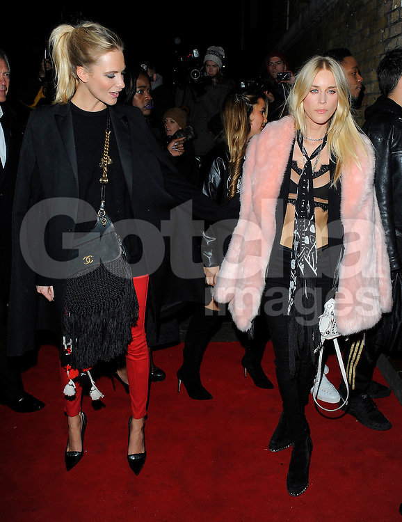 Poppy Delevingne and Mary Charteris attend the YSL Beauty: YSL Loves Your Lips party at The Boiler House,The Old Truman Brewer in London, UK. 20/01/2015<br />