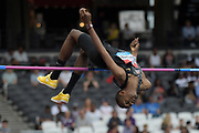 Jul 21, 2019; London, United Kingdom; Mutaz Essa Barshim (QAT) places second in the high jump at 7-5 1/4 (2.27m) during the London Anniversary Games at London Stadium at  Queen Elizabeth Olympic Park.