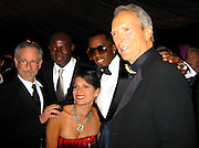 ##EXCLUSIVE##.Steven Spielberg, Djimon Hounsou, Sean P. Diddy Combs, Clint Eastwood & Dina Ruiz Eastwood.InStyle and Warner Bros. Post 2007 Golden Globe Party - Inside.Beverly Hilton Hotel.Beverly Hills, CA, USA.Monday January 15, 2007.Photo By Celebrityvibe.com.To license this image please call (212) 410 5354; or.Email: celebrityvibe@gmail.com ;.Website: www.celebrityvibe.com