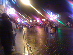 The scene on Beale Street in Memphis, TN.