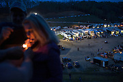 The pit area of 201 Speedway, viewed from a ridged overlooking the former coal strip mine near Paintsville, Kentucky, Thursday, April 18, 2013. <br /> <br /> Photo by D.L. Anderson for ESPN: The Magazine
