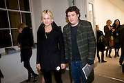 ADAM WAYMOUTH; OLYMPIA SCARRY, Unveiled; New art from the Middle East. The Saatchi Gallery in partnership with Phillips de Pury. Saatchi Gallery. King's Rd. London. 29 January 2009 *** Local Caption *** -DO NOT ARCHIVE-© Copyright Photograph by Dafydd Jones. 248 Clapham Rd. London SW9 0PZ. Tel 0207 820 0771. www.dafjones.com.<br /> ADAM WAYMOUTH; OLYMPIA SCARRY, Unveiled; New art from the Middle East. The Saatchi Gallery in partnership with Phillips de Pury. Saatchi Gallery. King's Rd. London. 29 January 2009