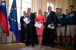 "during award ceremony ""Zlati red za zasluge"" for Basketball association of Slovenia on the day of statehood in the presidential palace, on June 25, 2018 in Ljubljana, Slovenia. Photo by Urban Urbanc / Sportida"