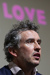 """© Licensed to London News Pictures . FILE PICTURE DATED 22/04/2013 . Cornerhouse Cinema , Oxford Road , Manchester , UK . STEVE COOGAN during a Q&A session following a preview screening of new film """" The Look of Love """" in Manchester , UK , this evening (Monday 22nd April 2013) . Coogan damaged the nail on his thumb following an accident when closing a window , he said . He plays the lead as club impresario Paul Raymond. Photo credit : LNP"""