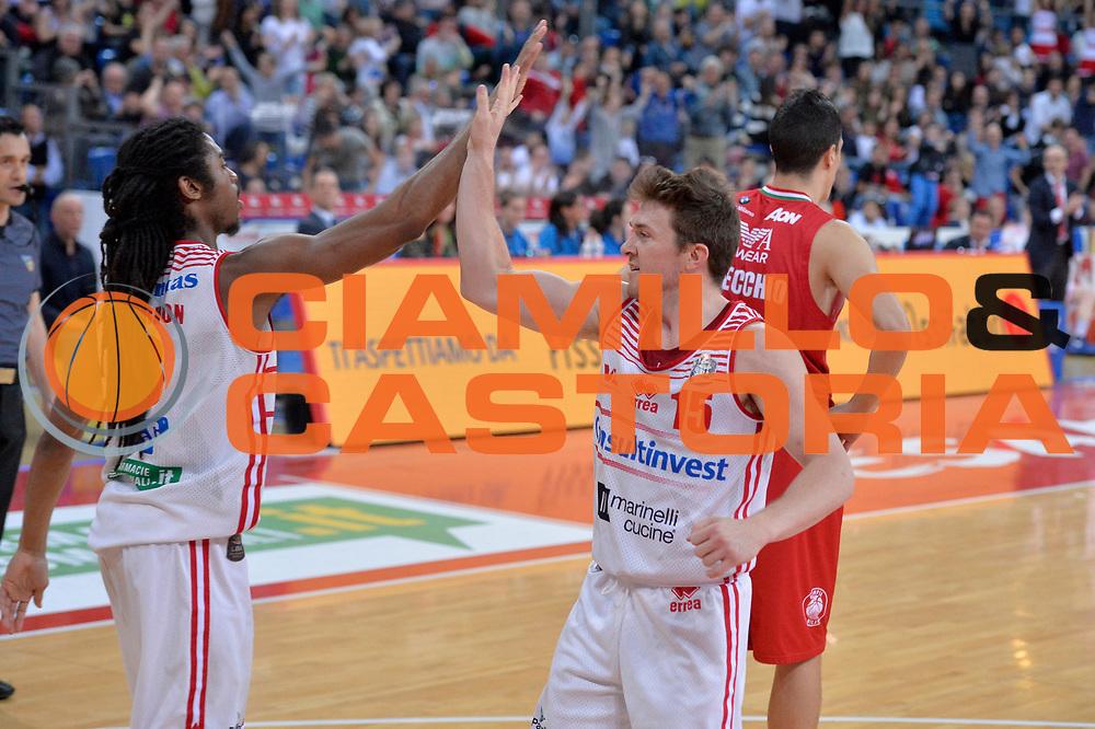 Rotnei Clarke<br /> Consultinvest Victoria Libertas Pesaro - EA7 Emporio Armani Olimpia MIlano<br /> Lega Basket Serie A 2016/2017<br /> Pesaro, 30/04/2017<br /> Foto M.Ceretti / Ciamillo - Castoria