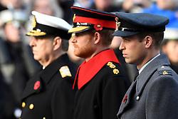 Prinz Andrew, Duke von York, Prinz Harry and Prinz William, Du beim Remembrance Sunday in London / 131116 *** Remembrance Sunday, London, 13 Nov 2016 ***