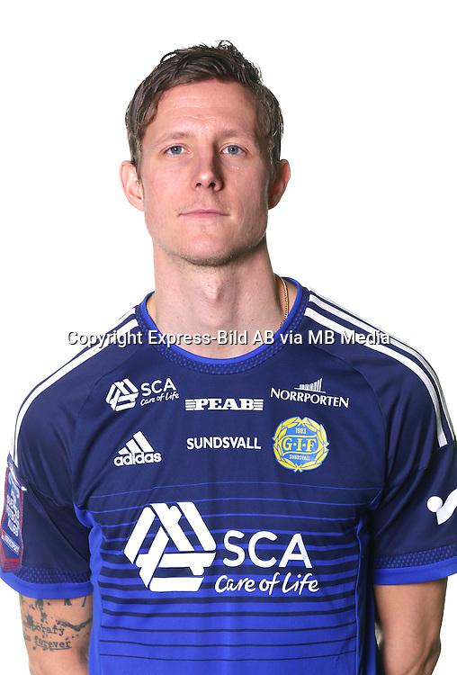 Johan Eklund<br /> Halvfigur<br /> @leverans<br /> Allsvenskan 2016<br /> Fotboll