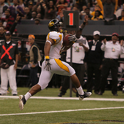 2008 November, 29: Grambling State running back Cornelius Walker runs in for a touchdown during the 35th annual State Farm Bayou Classic between Southern University and Grambling State University at the Louisiana Superdome in New Orleans, LA.  .