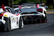 October 3-5, 2013. Lamborghini Super Trofeo - Virginia International Raceway. Racing action in race 1 at VIR.