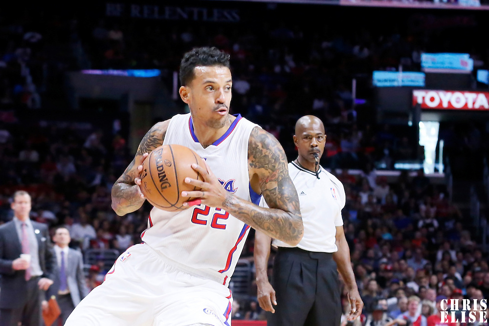 08 November 2014: Los Angeles Clippers forward Matt Barnes (22) is seen during the Los Angeles Clippers 106-102 victory over the Portland Trail Blazers, at the Staples Center, Los Angeles, California, USA.