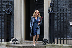 London, UK. 7 January, 2020. Esther McVey, Minister of State for Housing, leaves 10 Downing Street following a Cabinet meeting.