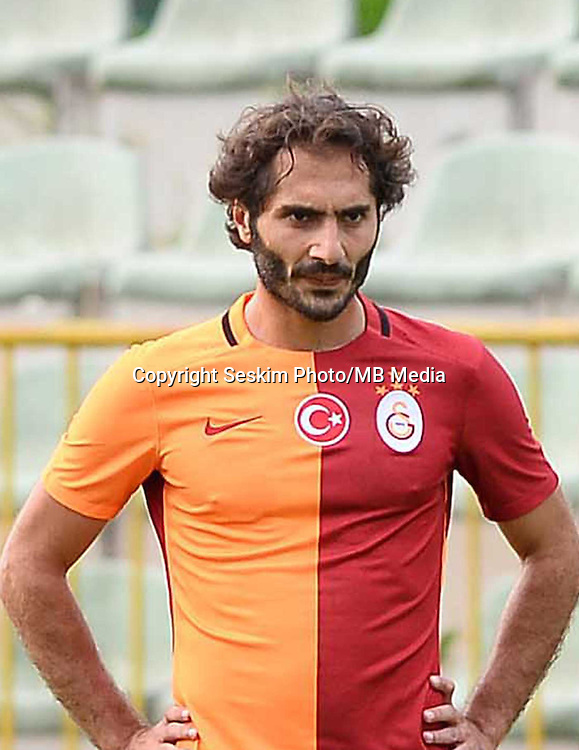 Friendly match between Galatasaray and Nice in Slovenia on July 28, 2015.<br /> Final Score: Galatasaray 0 - Nice 4<br /> Pictured: Hamit Altintop of Galatasaray.