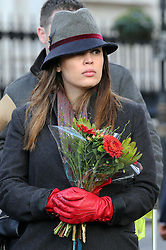 Mourners queue to  leave  flowers outside  South Africa House in London, Friday, 6th December 2013, following the death Nelson Mandela, Picture by Stephen Lock / i-Images