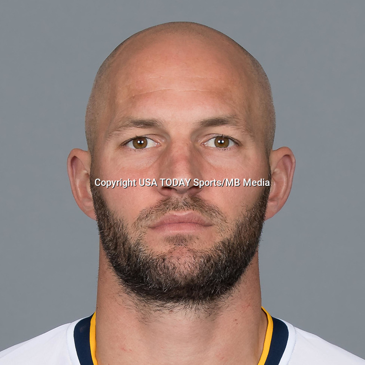Feb 25, 2017; USA; LA Galaxy player Jelle Van Damme poses for a photo. Mandatory Credit: USA TODAY Sports