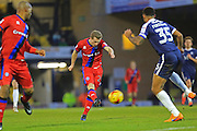 Jamie Allen fires in a shot during the EFL Sky Bet League 1 match between Southend United and Rochdale at Roots Hall, Southend, England on 14 January 2017. Photo by Daniel Youngs.