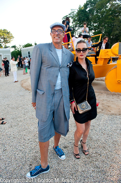 Water Mill, NY - 7/30/11 -Maynard Monrow and Sarah Ehrlich attend the Watermill Center benefit in Water Mill, NY July 30, 2011. CREDIT: Gordon M. Grant for The Wall Street Journal.NYSCENE_watermill center