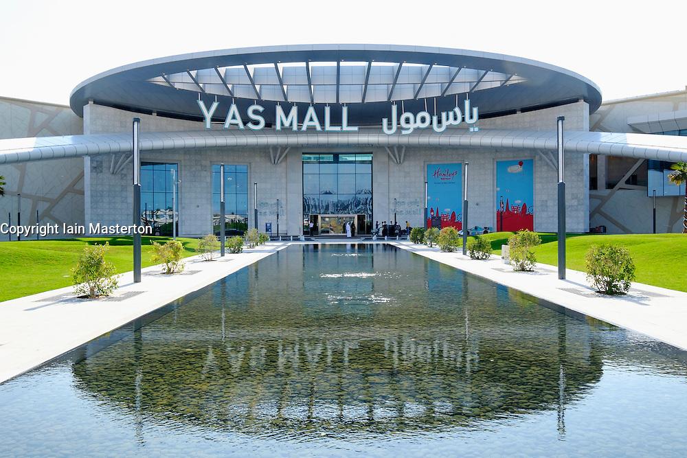New Yas Mall shopping centre on Yas Island in Abu Dhabi United Arab Emirates.