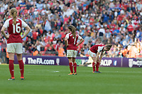 Football - SSE Women's FA Cup Final - Arsenal Women vs. Chelsea Ladies<br /> <br /> Arsenal Women players look dejected shortly after scoring they conced a third goal at Wembley Stadium.<br /> <br /> COLORSPORT/DANIEL BEARHAM