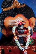 Lingam and Ganesh. Small Devale near Haputale.