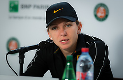 May 30, 2019 - Paris, FRANCE - Simona Halep of Romania talks to the media after winning her second-round match at the 2019 Roland Garros Grand Slam tennis tournament (Credit Image: © AFP7 via ZUMA Wire)