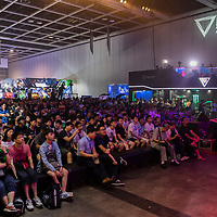Audiences watch the match between team Just Kittin' vs team HLL during the SHERO Invitational of the E-Sports Festival 2017 Hong Kong at the Hong Kong Convention and Exhibition Centre on 26 August 2017 in Hong Kong, China. Photo by Yu Chun Christopher Wong / studioEAST