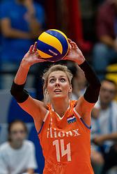 03-08-2019 ITA: FIVB Tokyo Volleyball Qualification 2019 / Netherlands, - Kenya Catania<br /> 3rd match pool F in hall Pala Catania between Netherlands - Kenya. Netherlands win 3-0 / Laura Dijkema #14 of Netherlands