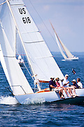 Destiny racing in the Robert H. Tiedemann Classic Yachting Weekend.