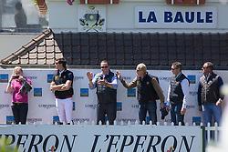 Hamerlinck Hubert (BEL) and Jef Desmedt, Nicola and Ludo Philippaerts<br /> Furusiyya FEI Nations Cup presented by Longines<br /> Longines Jumping International La Baule 2014<br /> © Hippo Foto - Dirk Caremans