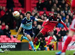 Bristol City's Albert Adomah scores the opening goal - Photo mandatory by-line: Dougie Allward/JMP - Tel: Mobile: 07966 386802 09/03/2013 - SPORT - FOOTBALL - Ashton Gate - Bristol -  Bristol City V Middlesbrough - Npower Championship