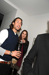 FRAN HICKMAN and DAVID DE ROTHSCHILD at a party to celebrate the launch of DKNY's new fragrance for women Delicious, held at The Serpentine Gallery, Kensington gardens, London on 12th December 2007.<br />
