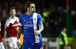 Peterborough United's Lee Tomlin reacts after being sent off for a push on Swindon Town's Yaser Kasim - Photo mandatory by-line: Joe Dent/JMP - Tel: Mobile: 07966 386802 11/01/2014 - SPORT - FOOTBALL - County Ground - Swindon - Swindon Town v Peterborough United - Sky Bet League One