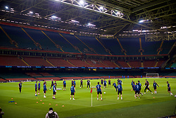 CARDIFF, WALES - Wednesday, October 10, 2018: Spain players during a training session at the Principality Stadium ahead of the International Friendly match between Wales and Spain. (Pic by David Rawcliffe/Propaganda)