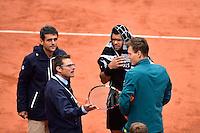 Jo Wilfried TSONGA / Tomas BERDYCH - 31.05.2015 - Jour 8 - Roland Garros 2015 <br />Photo : Dave Winter / Icon Sport