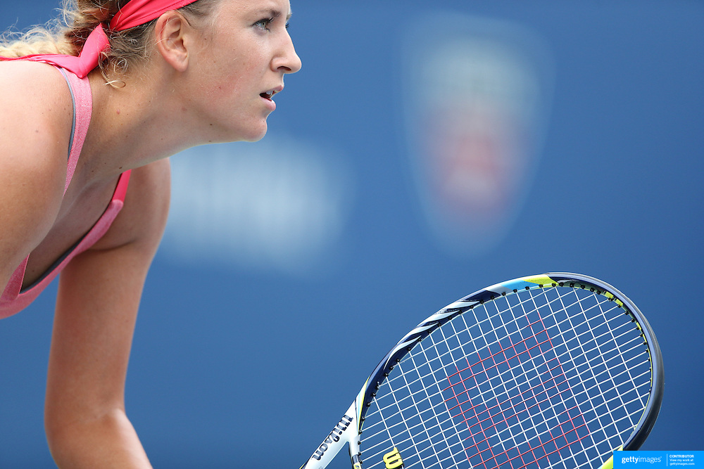 Victoria Azarenka, Belarus, in action against Ana Ivanovic, Serbia during the Women's Singles competition at the US Open. Flushing. New York, USA. 3rd September 2013. Photo Tim Clayton