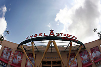 May 5, 2007: Main Entrance of the stadium as the Chicago White Sox played the Los Angeles Angels of Anaheim at Anaheim Stadium in Anaheim, CA. Exterior overview of sports facility in Southern California. .