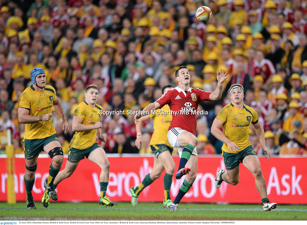22 June 2013; Johnathan Sexton, British & Irish Lions. British & Irish Lions Tour 2013, 1st Test, Australia v British & Irish Lions, Suncorp Stadium, Brisbane, Queensland, Australia. Picture credit: Stephen McCarthy / SPORTSFILE