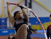 University of Maryland Eastern Shore junior Chelsea Lowe finished third in the Women's Poll Vault with a jump of 3.34 meters during the 2012 MEAC Indoor Track Championship in Landover, Maryland.  02/17/12  (Photo by Mark W. Sutton)