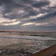 Today's white winter sunrise in Narragansett Beach, Narragansett  Rhode Island  February  20, 2013.