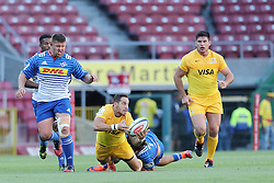 Joaquin Tuculet of the Jaguares during the Super Rugby match between DHL Stormers and Jaguares held at DHL Newlands in Cape Town, South Africa on the 4th March 2017.<br /> <br /> Photo by Ron Gaunt/Villar Press