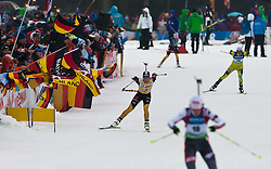 11.03.2012, Chiemgau Arena, Ruhpolding, GER, IBU, Biathlon Weltmeisterschaft, Massenstart Damen, im Bild Magdalena Neuner (GER) // Magdalena Neuner (GER) during the Mass Start Women of the IBU Biathlon World Championship at Chiemgau Arena, Ruhpolding, Germany on 2012/03/11. EXPA Pictures © 2012, PhotoCredit: EXPA/ Juergen Feichter