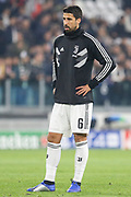 Juventus Midfielder Sami Khedira warm up during the Champions League Group H match between Juventus FC and Manchester United at the Allianz Stadium, Turin, Italy on 7 November 2018.